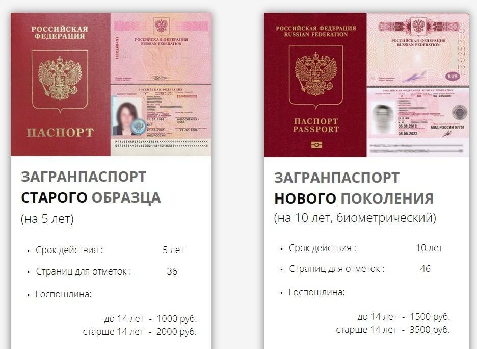 Отличия старого и нового загранпаспортов