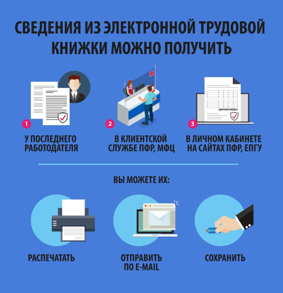 Как получить сведения из электронной трудовой книжки